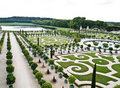 Palace Versailles , beautiful ornamental gardens Royalty Free Stock Photo