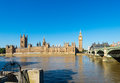 Palace of westminster london united kingdom view on the from the river thames Royalty Free Stock Images