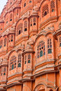 The palace of winds old castle in india jaipur Royalty Free Stock Photography