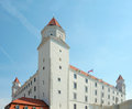 Palace xviii century of bratislava castle side view the circa founded in ix slovakia Royalty Free Stock Photos