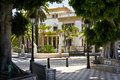 The Palacete Martí Dehesa is located in Plaza de los patos Royalty Free Stock Photo