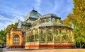 Palacio de Cristal in Buen Retiro Park - Madrid, Spain Royalty Free Stock Photo