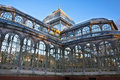 Palacio de Cristal en stationnement de ville de Retiro, Madrid Photo stock