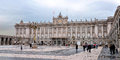 Palacio de real royal palace in madrid Royalty Free Stock Photography