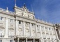 The palacio real de madrid royal palace spain november is ceremonial residence of spanish family baroque Royalty Free Stock Photo