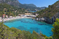 Palaiokastritsa beach at corfu greece island in Stock Image