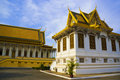 Palais cambodgien de constructions royal Photographie stock libre de droits