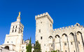 Palais des papes avignon the famous france Stock Photography