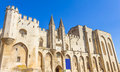 The palais des papes avignon france Stock Images
