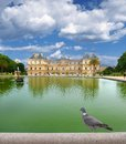 Palais dove du luxembourg paris france Royalty Free Stock Photos