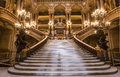 The Palais Garnier, Opera of Paris, interiors and details Royalty Free Stock Photo