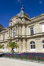 Palais luxembourg paris france on a beautiful blue background Stock Photos