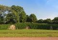 Palaisgarten park on river elbe in dresden germany Stock Photos