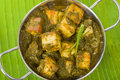 Palak paneer south asian curry made with cheese with pureed spinach sauce Stock Photography