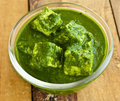 Palak paneer is a traditional popular indian dish of spinach cheese Stock Images