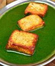 Palak paneer is a traditional popular indian dish of spinach cheese Stock Photos