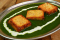 Palak paneer is a traditional popular indian dish of spinach cheese Stock Photography