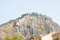 Palamidi castle in nafplio greece Stock Image