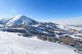Palandoken, Erzurum, Turkey - Mountain skiing and snowboarding Royalty Free Stock Photo