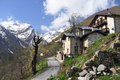 Palanfre province of cuneo italy the mountain village maritime alps Royalty Free Stock Photo