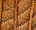 Palapa tropical Mexico wood cabin roof detail Royalty Free Stock Photography