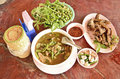 Palatable thai local food set on the table Royalty Free Stock Photos