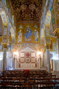 Palatine Chapel in Palazzo Reale in Palermo Royalty Free Stock Photo