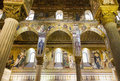 Palatine chapel in palermo italy inside the normans palace sicily Royalty Free Stock Images