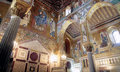 Palatine chapel in palermo italy inside the normans palace sicily Royalty Free Stock Photos