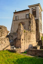 Palatine hill ruins rome italy ancient roman of the imperial palace at Stock Photos