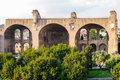 Palatine hill ruins rome italy ancient roman of the imperial palace at Royalty Free Stock Image