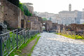 Palatine hill ruins rome italy ancient roman of the imperial palace at Royalty Free Stock Photography