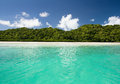 Palau cobalt blue water and blue sky in Royalty Free Stock Photo