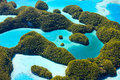 Palau islands from above beautiful view of in Royalty Free Stock Image