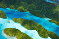 Palau islands from above beautiful view of Royalty Free Stock Photos