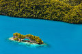 Palau islands from above beautiful view of the arch landmark in Royalty Free Stock Image