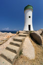 Palau lighthouse in sardinia italy punta faro north Stock Image