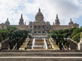 Palau nacional situated in montjuïc barcelona is a palace constructed between the years and for the international exhibition in Royalty Free Stock Image