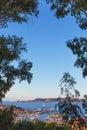 Palau port sardinia evening in italy Royalty Free Stock Images