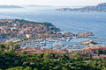 Palau sardinia italy may view down to palau in sardinia on Royalty Free Stock Photos