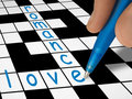 Palavras cruzadas - amor e romance Imagens de Stock Royalty Free