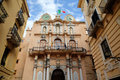 Palazzo cavarretta town hall in trapani sicily italy Royalty Free Stock Photo