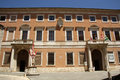 Palazzo chigi zondadari in san quirico dorcia tus the facade of the xvii th century tuscany italy Royalty Free Stock Photo