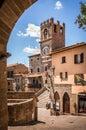 Palazzo Comunale historic building in Cortona, Italy Royalty Free Stock Photo