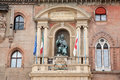 Palazzo comunale palace cityhall with pope gregory xiii statue bologna italy Stock Photography