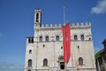 Palazzo dei Consoli Royalty Free Stock Photography