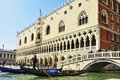 Palazzo ducale in venice italy april from the lagoon on april formerly the residence of the doge and now a museum the Stock Image
