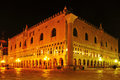 Palazzo ducale in venice italy view of the doges palace at night Stock Photos