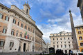 Palazzo Montecitorio palace in Rome, Italy, the seat of the Ital