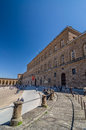 Palazzo Pitti, is a vast mainly Renaissance palace in Florence. Royalty Free Stock Photo